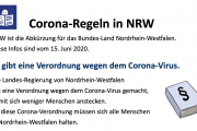 "Screenshot des Dokuments ""Corona-Regeln in NRW"""