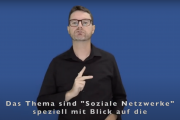 """Screenshot von DGS-Video zu """"Soziale Netzwerke"""""""